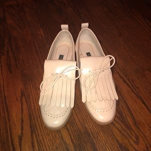 Pale pink Zara loafers
